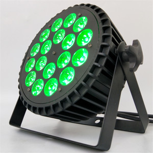 الألومنيوم 18x18W RGBWA UV 6in1 الصمام الاسمية غسل الاسمية LED شقة مكافئ الألمنيوم العاكس إضاءة لحزب KTV ديسكو DJ مصباح