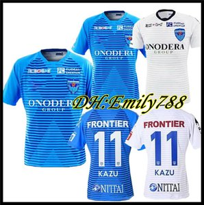 2020 2021 Yokohama FC maillots de camisa de futebol pé 20 21 casa azul longe withe # 11 camisa de futebol KAZU Camiseta de futboll camisa S-XXL