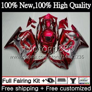 Corps argenté rouge pour HONDA CBR600 F3 CBR600RR F3 CBR600FS 95 96 47PG1 CBR 600F3 FS 95 CBR600F3 CBR600 F3 1995 1996 Kit de carrosserie de carénage