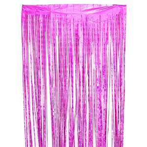 1M 2M Wedding Photography Backdrop Curtain Photo Props Colored Metallic Foil Tinsel Fringe Curtain Birthday Party Decoration