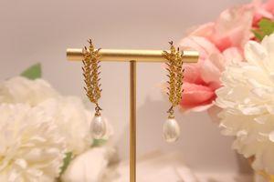 S925 Tremella Earrings Lady Wheat Ears Yellow Crystal Ear Studs Fashion Trend Earrings Personalized Tassel Ear Hook Quality High Quality