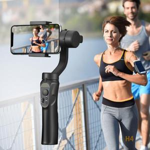 Telefon-Stabilisator 3-Achsen Hand Bluetooth Kamera H4 Hand Gimbal Stabilisator für iPhone Handy-Handy Smartphone Selfie Anti-Shake