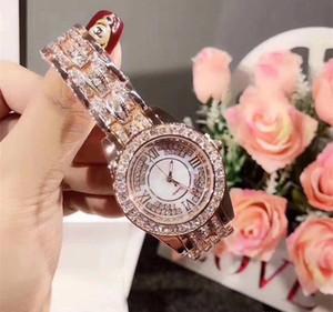 2019 HOT Arrivals Luxo Lady Women Watch completa diamante Aço Cadeia relógios de luxo Quartz relógio de lazer relógio designer de moda