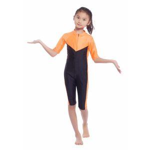Kinder Mädchen Modest Swimwear Swimsuit Muslim islamischen einteiliger Badeanzug-S-XLKK