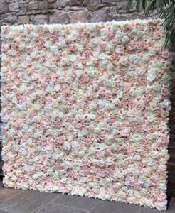 $ 42.88 Düğün Çiçek Düğün Duvar Düzenlemesi için Backdropement Yapay Gül Şakayık Çiçekleri Ev bahçe düğün için