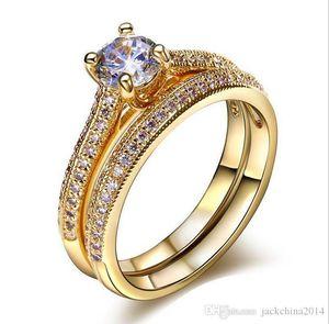 Victoria Wieck choucong gioielli di moda taglio rotondo argento 925 bianco dello zaffiro della CZ Diamond popolari Donne da sposa Ring Set SZ5-10