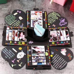 Ручной работы Взрыв Коробка DIY Альбом Мальчик Подруга Романтические Подарочные Коробки Дети Confidante Творческий Подарок Новое Прибытие 20zr L1