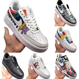 Kutusu ile 2020 AF1 Düşük Kesim Deri Kaykay Ayakkabı origial AF1 Düşük En Tampon Kauçuk Dahili Zoom Air Kıtıklanması Spor Ayakkabı