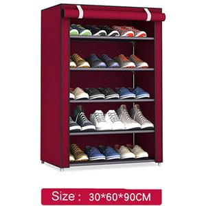 Non-Woven Fabric Storage Schuhregal Flur Cabinet Organizer Halter 4/5/6 Schichten montieren Schuhe Regal Diy Wohnmöbel Q190605