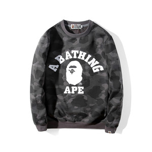 BAPE Mens Hoodies Fashion Mens Stylist Cartoon Shark Printing Hoodies Jacket Men Womens High Quality Casual Sweatshirts 5 Colors Size M-2XL