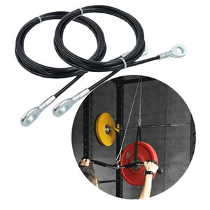 Pack 2 Adjustable Steel Fitness DIY Pulley Cable Triceps Training Workout
