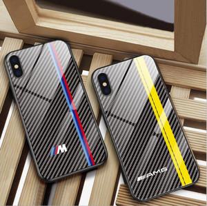 Arrefecer caixa de vidro para bmw telefone para o iPhone X XS más 6 6s 7 8 mais 11 PRO casos MAX para audi sline RS AMG