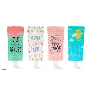 Bottiglia da 100 ml di viaggio Hand Sanitizer Cosmetic Bag insacco PVC Imballaggio portatile Borse Shampoo Packaging Bottiglie CCA12061 500pcsnew
