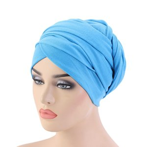 NEW Luxury pleated Cotton magic Turban hijab Head Wrap Extra Long tube indian Headwrap Scarf Tie