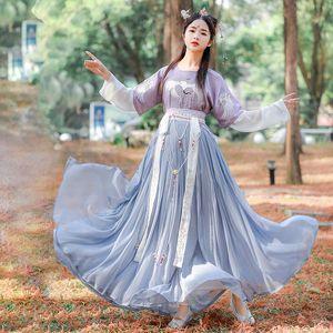 2020 Costume Tradizionale Nuovo cinese per le donne Antico Hanfu Abbigliamento elegante ricamo Tang Costume 3 pezzi set DL5348