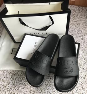Tasarımcılar Kauçuk Slide Sandal Kaplan slayt Plaj Tasarımcılar Terlik Erkek Sandalet Lüks Ayakkabı Günlük Moda Slaytlar Ayaklı Slipper Flops