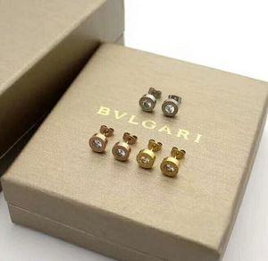 جديد 316L التيتانيوم الصلب عشيق اسم العلامة التجارية أزياء وعدد الروماني أقراط مجوهرات للنساء يهودي الزفاف