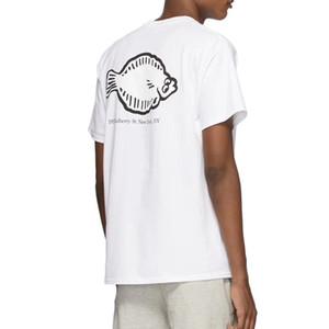 Maniche 20ss Flounder negozio Tee Cartoon Fish carino Printed T-shirt High Street Skateboard corta da uomo di estate delle donne T HFYMTX733