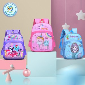 Xiangyi kindergarten schoolbag small middle school class 1-3-6 years old cartoon cute baby backpack men's and Children's backpack