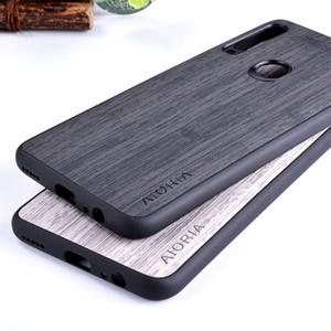 caso per Huawei P30 pro lite Nova 4E Mate 30 pro Y9 privilegiata 2019 modello di bambù morbida di TPU + PC 2in1