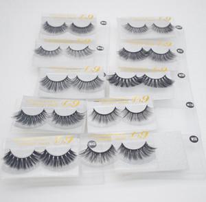3D Mink Eyelashes Eye makeup Mink False lashes Soft Natural Thick Fake Eyelashes 3D Eye Lashes Extension Reusable 10 styles free epacket