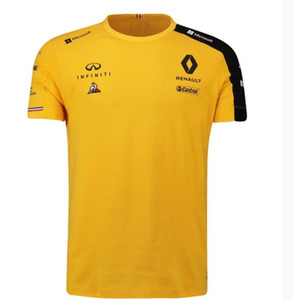 F1 رينو رينو 2019 ريكاردو رايدر T-shirt قصير كم بدلة السباق إنفينيتي التجفيف السريع بأكمام قصيرة التجفيف السريع أعلى