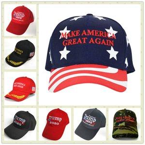 YENI Amerika Büyük Yapmak Tekrar Şapka Donald Trump 2020 Cumhuriyet Ayarlanabilir Kırmızı Cap ile İyi Kalite ücretsiz kargo