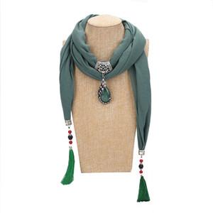 Ulusal Etnik Eşarp Yeni Moda Kadınlar Püsküller sarar Yüksek Kalite Çok renkli Reçine Alaşım Peacock kolye Eşarp