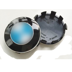 56 مم جديد 10pin أزرق أبيض Wheel Center Hub قبعات حافة قبعات شعار شارة لسيارات BMW Serie 2 Serie 7 Serie X1