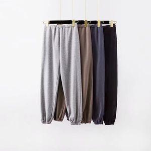 Moda Kadın Koşu Kargo Pantolon Pantolon Yüksek elastik wasit seksi gevşek pantolon joggers gri Sweatpants Capris Kış Y200114 giysi