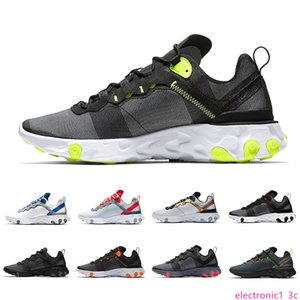 2019 Taped Seams Solar Red React Element 55 Total Orange Men Running Shoes For Women Designer Sports Mens women Trainer 55s Sneakers 36-45