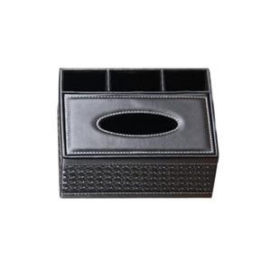 Creative Square Household Leather Multi-purpose Tissue Box Paper Tray Napkin Box Living Room Remote Control Storage