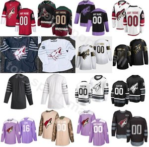 2020 Arizona Coyotes Eishockey 13 Vinnie Hinostroza Jersey Männer 67 Lawson Crouse 91 Taylor Hall 40 Michael Grabner Red White Custom Name