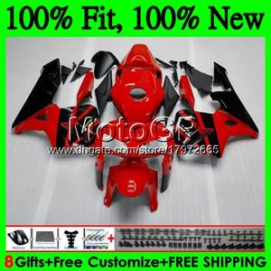 Инъекции тела+бак для Honda ЦБ РФ 600RR 05 06 CBR600 РР клавишу F5 05 59GP11 CBR600F5 CBR600RR красный черный ЦБР 600 РР клавишу F5 2005 2006 обтекатель кузова
