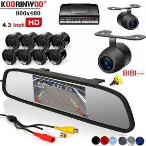 Koorinwoo Multicolor Car Video Parking Sensors 8 передняя резервная камера заднего вида автомобиля ночного видения с монитором зеркальным детектором