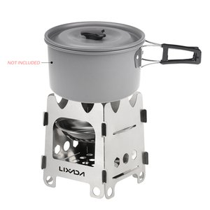 Lixada Titanium Outdoor Camping Stove Portable Ultralight Folding Wood Stove Pocket Stove Camping Fishing Hiking