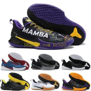 Schneller Versand 2020 neuer Mens Mamba Fokus EP-Basketball-Schuhe Top-Qualität Schwarz Weiß 8 24 Luxus-Turnschuhe Größe US7-12