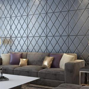 Marmoleado impermeable del papel pintado de aislamiento de sonido Espesar dormitorio Televisión fondo de la pared de colores simple PE Decoración Fondos de la venta caliente 9 5ccD1