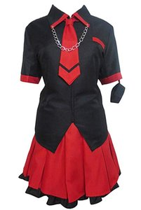 BLOOD-C Kisaragi Saya Black High School Uniform Dress Outfit Costume Cosplay