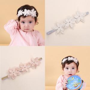 Cute Kids Flower Crown Повязка на голову Baby Girl эластичная резинка для волос Аксессуары Головные уборы для малышей розовый Дети Hairband Тюрбан головной убор