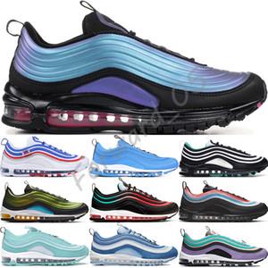 Nike Air Max 97 Sıvı Metal Antrasit Oyunu Kraliyet Erkek Koşu Ayakkabıları Steelers Koyu Gri Üçlü Beyaz Siyah Ember Glow Kırmızı Erkek Kadın Spor Sneakers 36-45