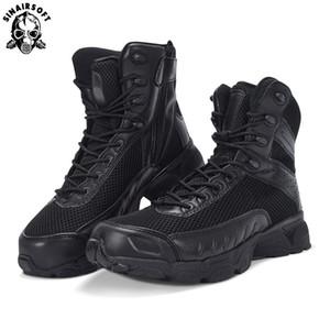 Combate táctico botas de invierno CP Camo masculino SINAIRSOFT cuero auténtico deporte al aire libre de los hombres del ejército del chivato botas de excursión los zapatos