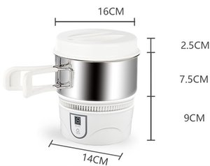 Portable mini rice cooker touch induction cooker student dormitory small hot pot 800W 220V travel electric cooker