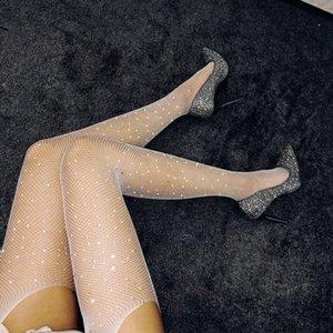 plus size Glitzern Strümpfe Schrittgurt Strumpf Glitter Weiß ultra Feinstrumpfhose Strümpfe Schrittgurt Strumpf- Glitter, die aussehen wie Oberschenkel Höhen