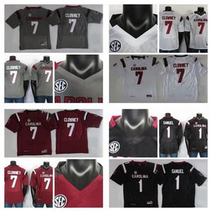 2019 College Football Jersey Jadeveon Clowney Jersey Deebo Samuel NCAA South Carolina Gamecocks maglie Rosso Bianco Grigio