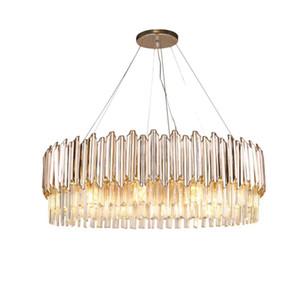 패션 크리스탈 샹들리에 침실 거실 LED 장식 빛 고급 레스토랑 라운드 램프
