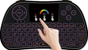 RGB colorful backlight flying air Mouse i86 P9 Lithium battery 2.4G Wireless Keyboard Remote Controlers touchpad for PC Notebook Android TV