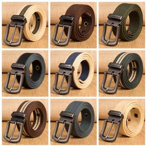 Military Tactical Belt Men Canvas Belts for Jeans Male Casual Metal Pin Detachable Buckle Straps Belt ceintures 100-160cm L-JJA3179