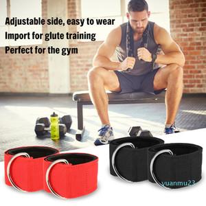 Wholesale-2020 Günstige Knöchelstütze Fitness Padded Ankle Straps für Kabelmaschinen Verstellbare Fußfesseln Glute Beintraining