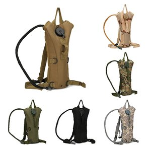 3L Tactical Outdoor Hydration Water Backpack Waterproof Bag With Bladder For Hiking Climbing Riding 6 Colors